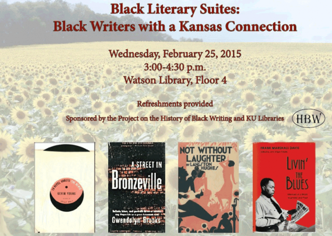 Flyer for the 2015 Black Literary Suite