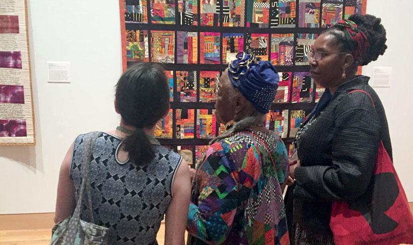 Faith Ringgold at exhibit