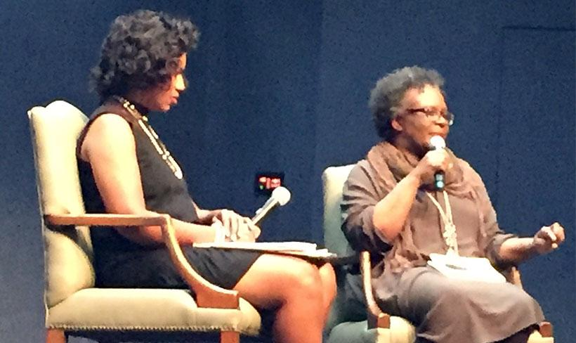 Shelia Bonner and Claudia Rankine