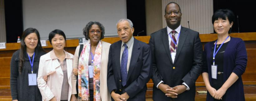 Maryemma Graham and Jerry W. Ward, Jr. at Harbin Engineering University, Fall 2014.