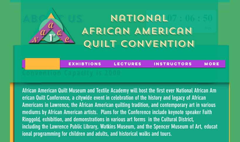 HBW is a proud sponsor of the 1st Annual National African American Quilt Convention