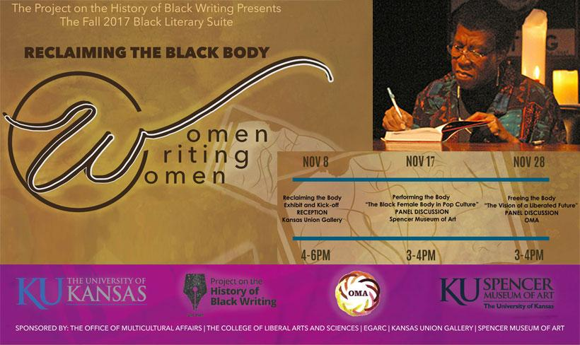 """The Fall 2017 Black Literary Suite - """"Reclaiming the Black Body: Women Writing Women"""""""
