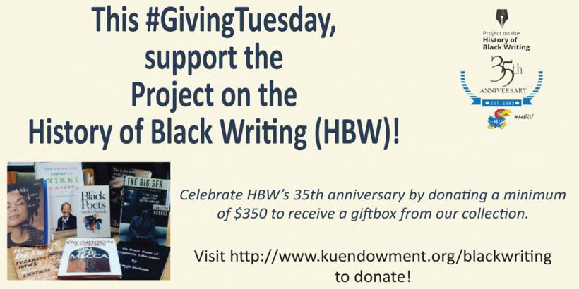 Support the History of Black Writing HBW - Giving Tuesday