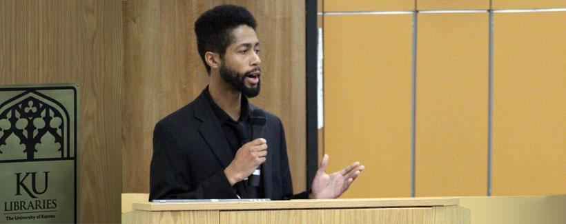 Graduate student Matthew Broussard talks about the significance of this year's Black Literary Suite.