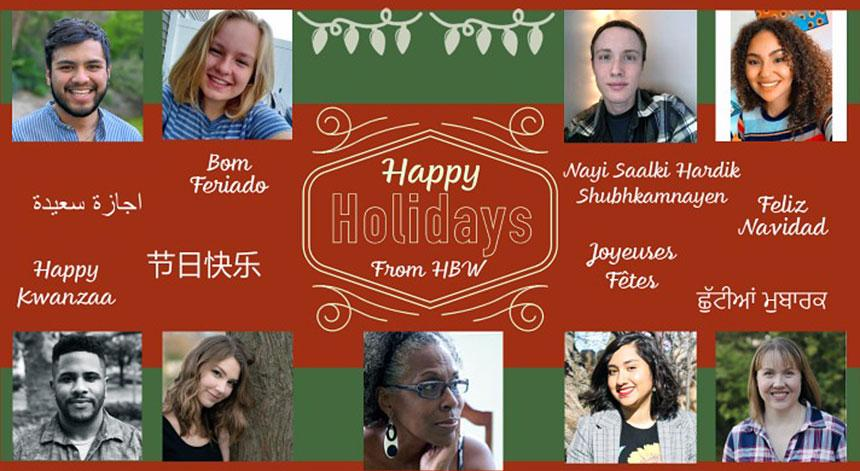Holiday Greetings from the Staff and Faculty of  The Project on the History of Black Writing