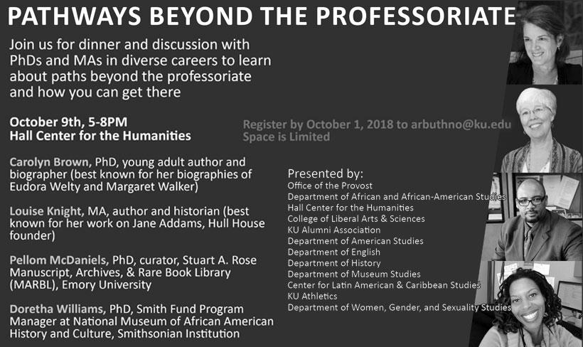 Pathways Beyond The Professoriate, Oct. 1, Hall Center for the Humanities